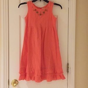 Coral casual spring dress